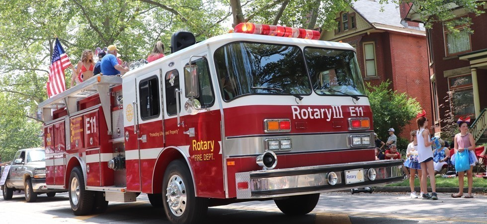 Rotary Fire Truck in the Doo Dah Parade